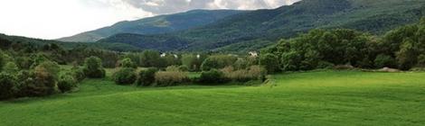 Panoràmica de la Vall d'en Bas, La Garrotxa.