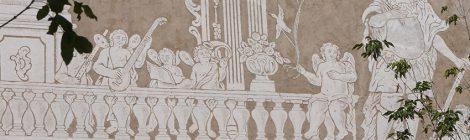 Esgrafiats de l'església de Sant Martí de Sant Celoni.