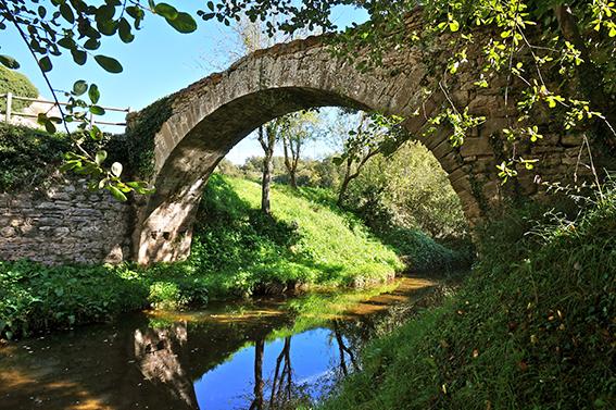 Et dono la benvinguda a Rondaller. Pont romànic a l'Espluga de Castellcir, al Moianès.