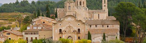 Panoràmica del conjunt del monestir de Santes Creus.