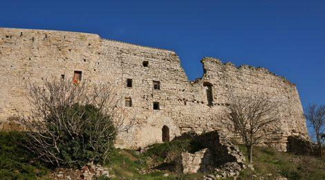 Muralla exterior de la vila closa de Montfalcó Murallat.