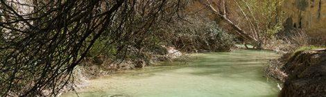 El riu Vero a Alquézar.