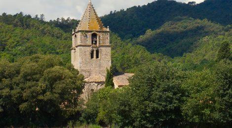 Campanar romànic de l'església de Sant Gregori.
