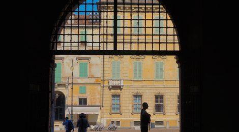 Entrada al Palazzo Vescovile de Mantova.