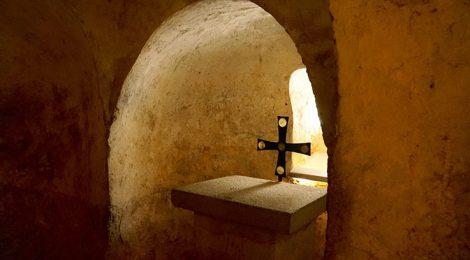 Cripta de l'Església de Sant Miquel de Terrassa.