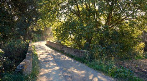 Pont de Can Gras a Sant Pere de Vilamajor.