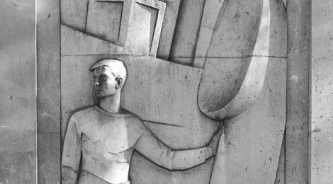 Relleu escultòric d'Eudald Serra.