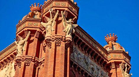 Escultures a l'Arc de triomf de Barcelona.