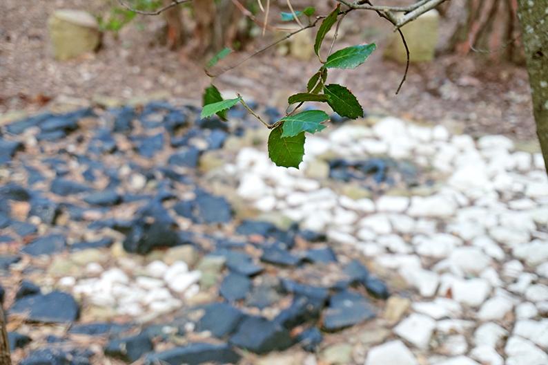 Ying i Yang fets amb pedres. Laberint de Cabrils