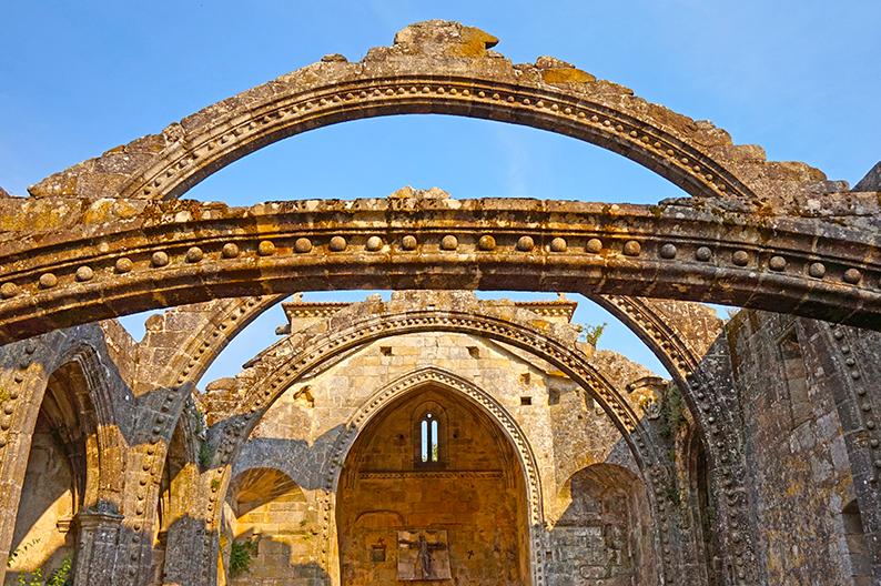 Arcades de Santa Mariá Dozo a Cambados (Pontevedra)