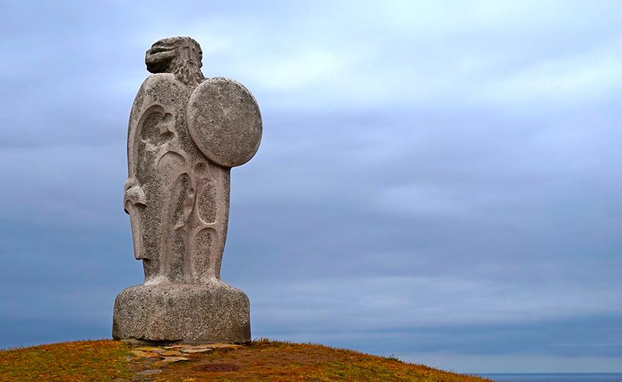 Escultura del cabdill celta Breogán. Quart itinerari per A Coruña
