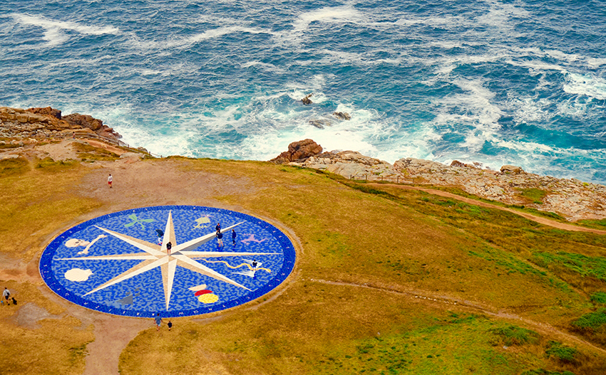 Gran rosa dels vents arran la costa. Quart itinerari per A Coruña
