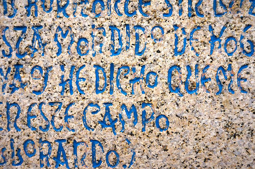 Poema de Lorca al Monumento a los fusilados. Quart itinerari per A Coruña
