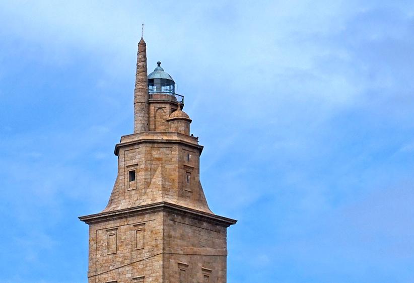 Part superior de la Torre de Hércules. Quart itinerari per A Coruña