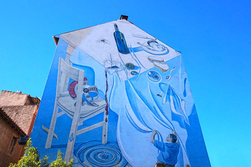 Mural a Sant Hilari Sacalm. La Selva