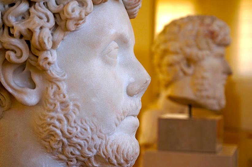Cap de romà amb barba.
