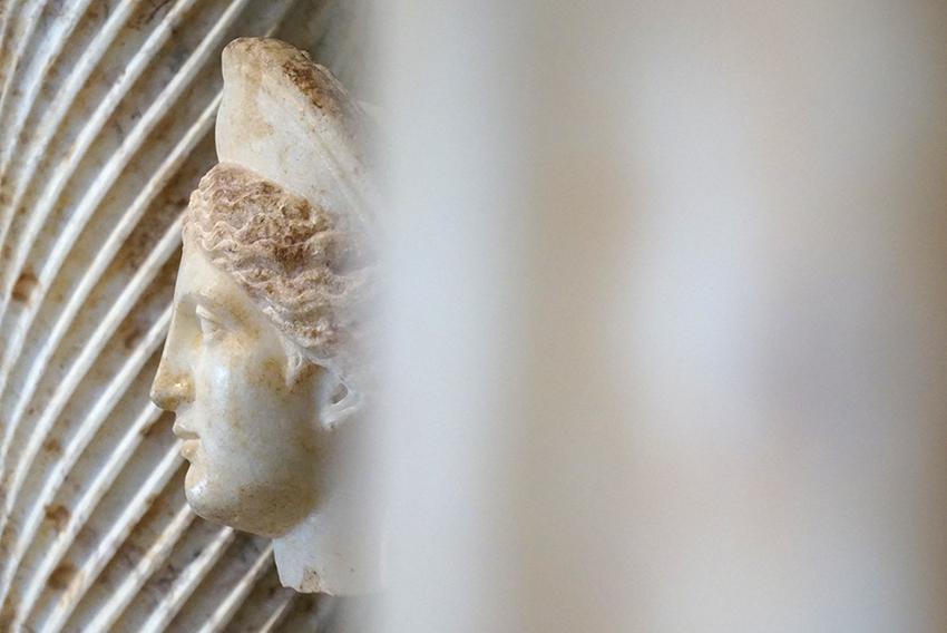 Cap de dona en marbre. Museu Arqueològic Tarragona