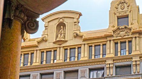 Edifici La Equitativa a la Via Laietana de Barcelona.