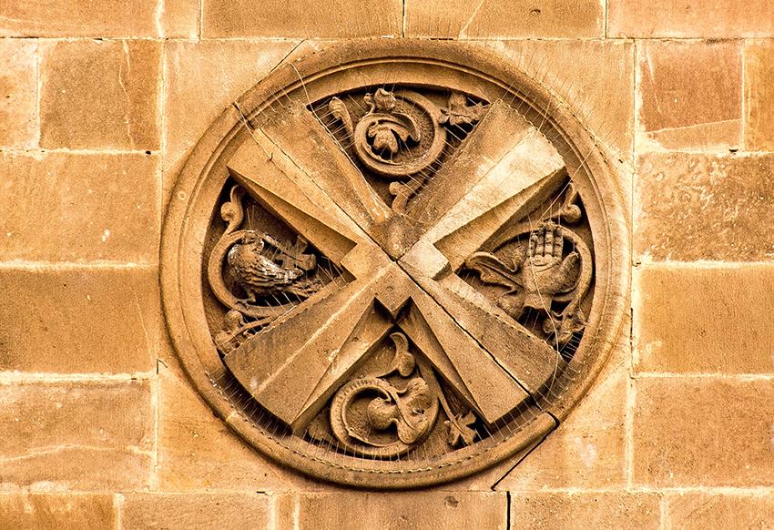 Elements de l'escut de Sant Andreu de Palomar. Barcelona
