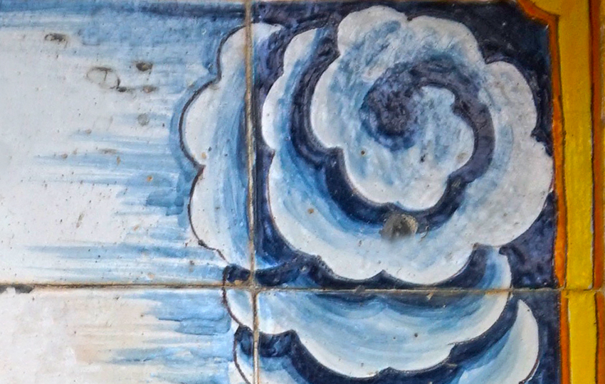 Detall de núvol pintat per Guivernau.