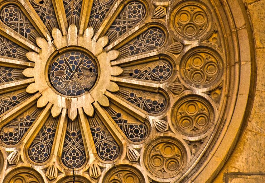 Rosassa de l'Església Sant Andreu de Palomar.