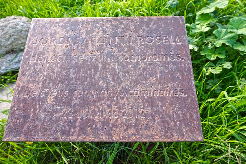 Placa commemorativa a Jordi Safont. Vilanova del Vallès. Vallès Oriental