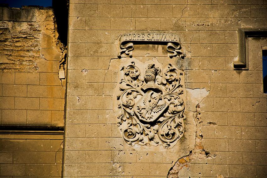 Escut nobiliari a la Torre Salvana. Santa Coloma de Cervelló. Baix Llobregat