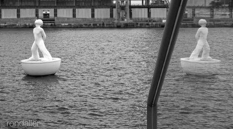 Port de Barcelona. Escultura. Miraestels