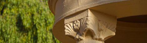 Detall de la capella de Maria Auxiliadora a Alella.