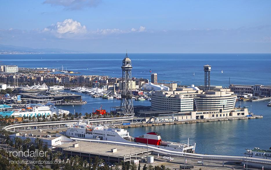 Panoràmica del port de Barcelona.