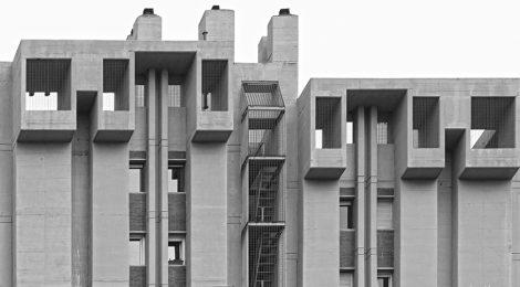 Edifici Símbol. Esplugues de Llobregat. Baix Llobregat. Brutalisme