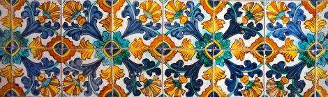 Plafó ceràmic. Rajola. Monestir Pedralbes. Barcelona