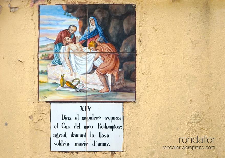 Estació XIV del Via Crucis de Papiol. Baix Llobregat.