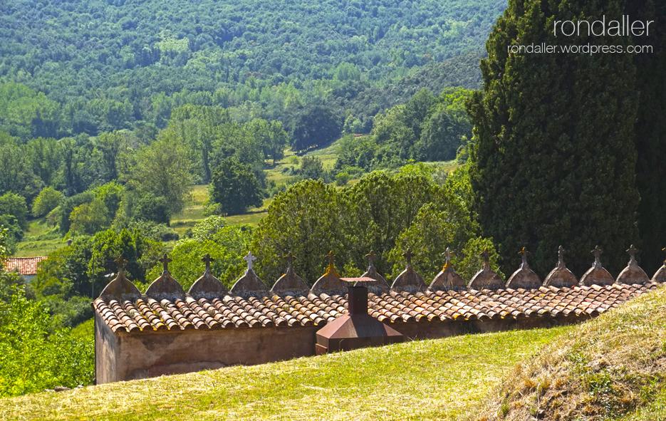 Panoràmica des del cementiri de Santa Pau. Garrotxa
