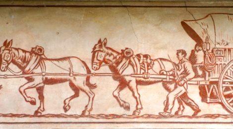 Esgrafiat de Ferran Serra a la casa de Josep Prats o Pep el Garbellador de Martorell.