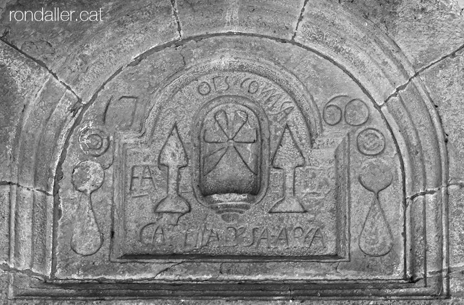 Timpà del Santuari Santa Afra al municipi de Sant Gregori a la Vall de Llémena (Gironès).