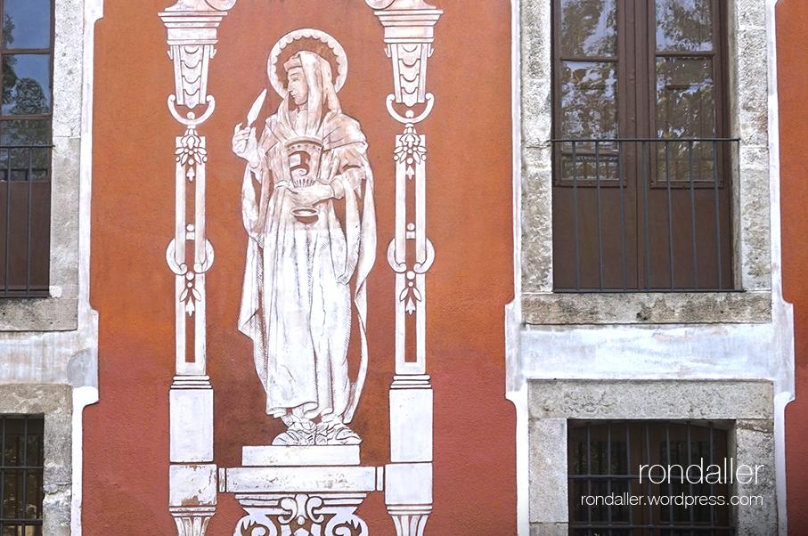 esgrafiats de l'Antic Hospital de Vilafranca del Penedès, Alt Penedès. Sant Damià.