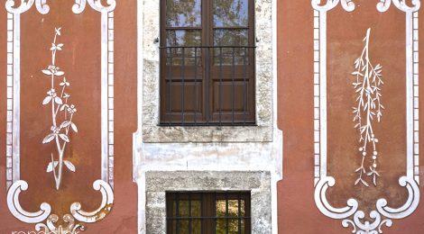 Vilafranca del Penedès, Alt Penedès, esgrafiat, hospital
