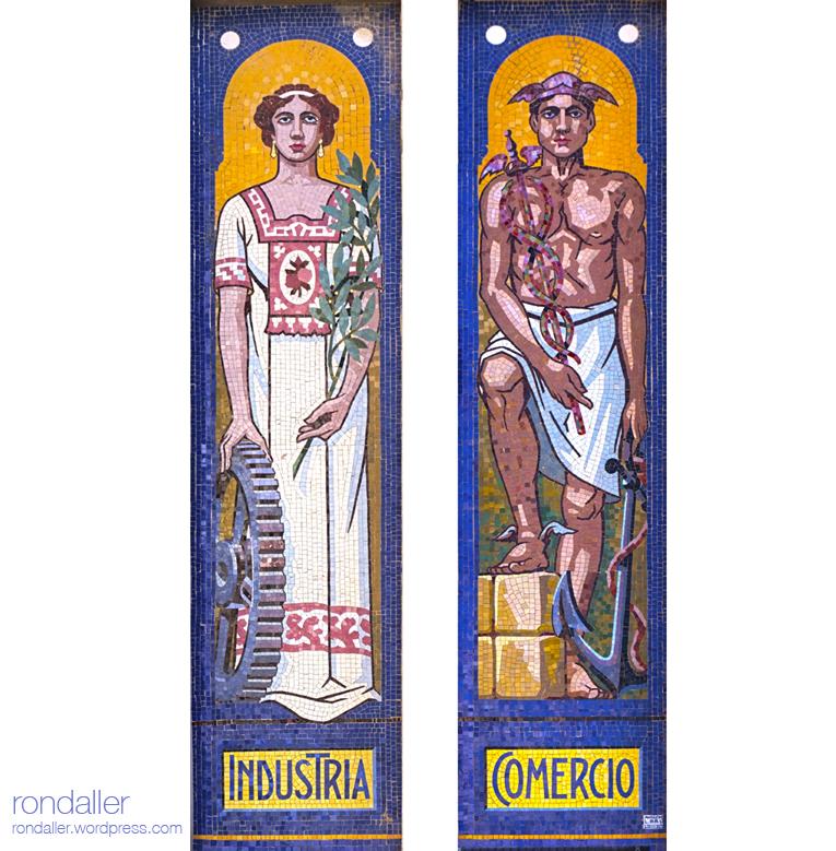 Mosaics de la Tenería Moderna Franco-Española de Mollet del Vallès