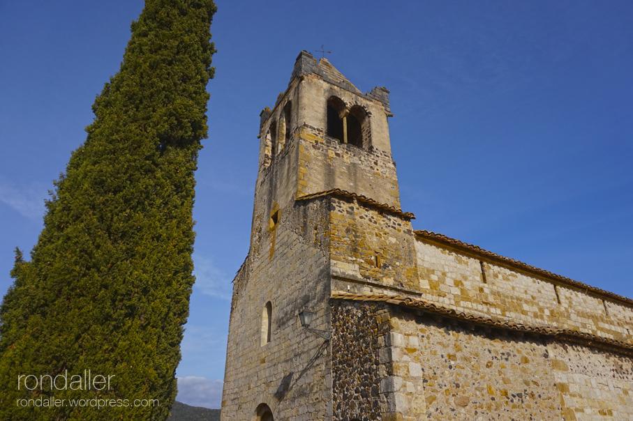 Excursió a Sant Llorenç d'Adri. Campanar.