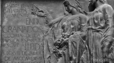 Barcelona, Enric Granados, placa, relleu, Joan Borrell