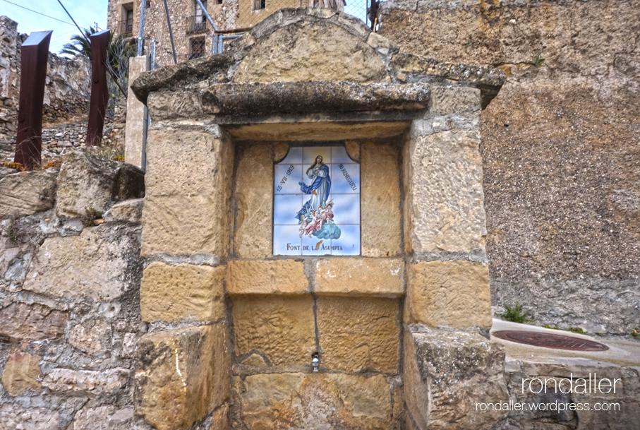 Font de l'Assumpta de Corbera d'Ebre, Terra Alta.