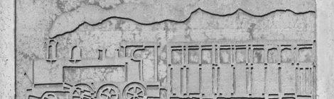 Domènec Fita, monument, carrilet, tren Olot, Amer