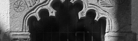 Arbúcies, la Selva, finestra, gòtic, gravat, símbol
