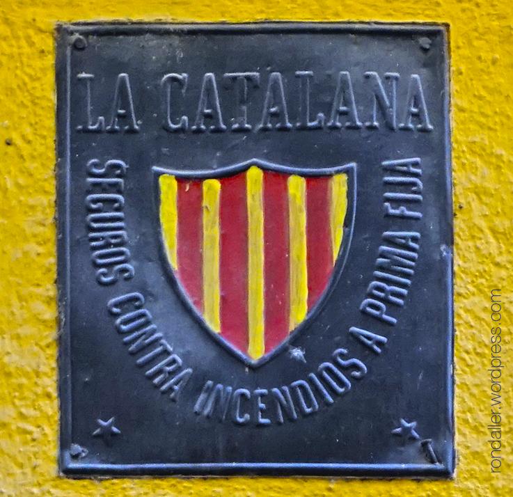 placa, assegurança incendis, la catalana,