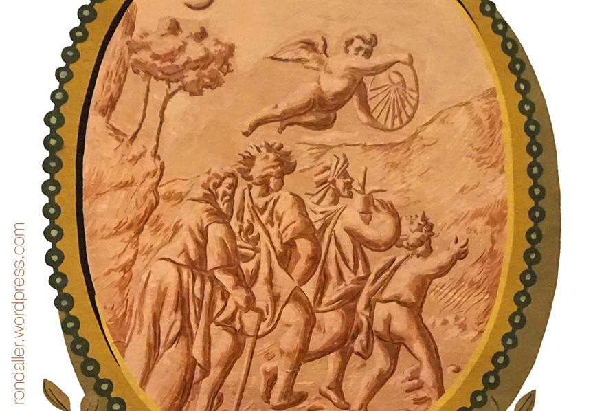 Medallons del Saló d'Esgrima del Castell de Castelldefels. Baix Llobregat.