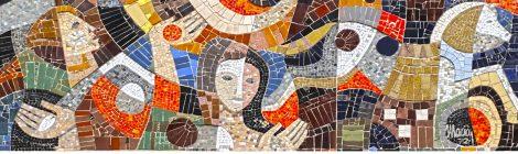 Armand Olivé-Milián, mosaic, carrer Muntaner, la Creació