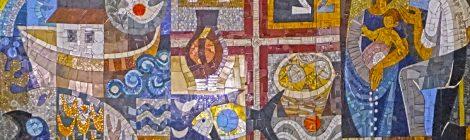Nostra Senyora del Roser, Armand Olivé-Milián, mosaic,