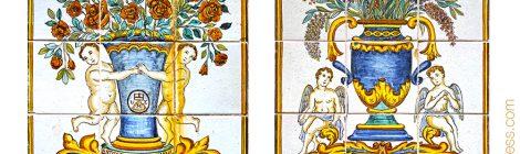 Montserrat, Guivernau, ceràmica, plafó, rajola