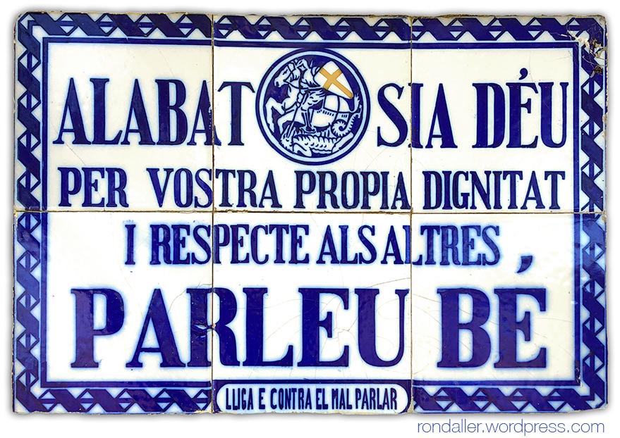 La Lliga del Bon Mot. Plafó ceràmic a Vallromanes, Vallès Oriental.